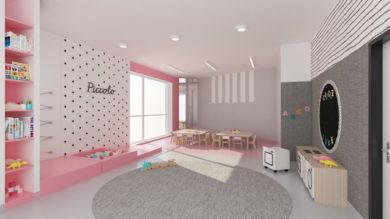 Wizualizacja sali nowe przedszkole Józefosław