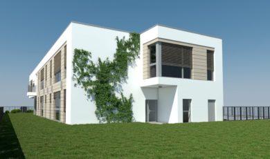 Wizualizacja z boku 2 nowe przedszkole Józefosław