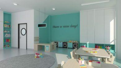 Wizualizacja sali 2 nowe przedszkole Józefosław