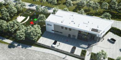 Wizualizacja z góry nowe przedszkole Józefosław